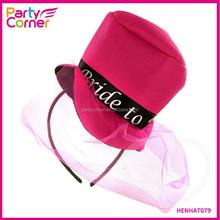 Mini Pink Felt Bride To Be Top Hat