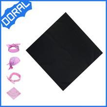 Fashion square solid plain black bandana