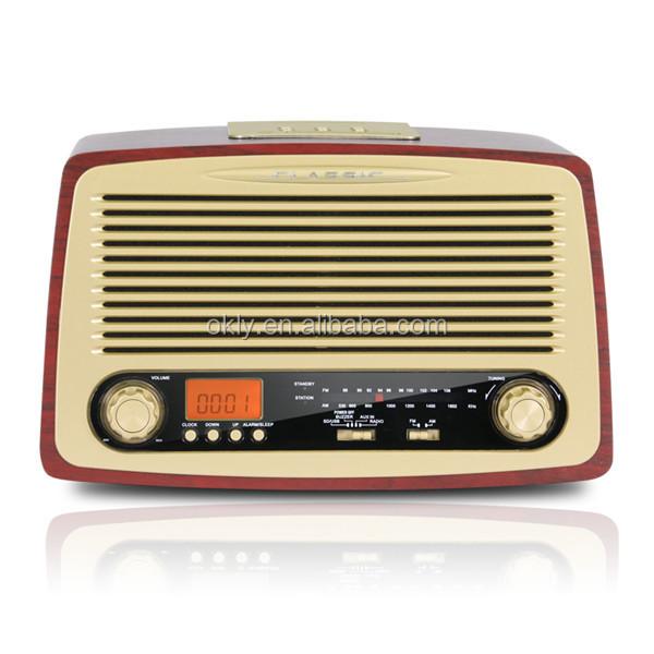 Okly-18 Portable Retro Fm Radio Kitchen Clock Radios With