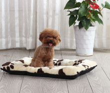 Paw printed plush pet mat/dog beds/dog mat