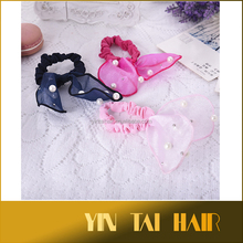 Fashion Women Hair Band Headband Bunny Ears Bow Pearl Bracelet Hair Accessories