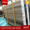 crystal grain wood marble slab top quality