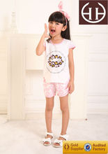 OEM&ODM girl fashion design clothing,girl cool summer top girl fanci suit