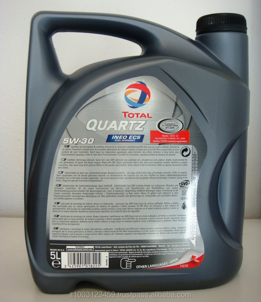 total quartz ineo ecs 5w30 engine oil designed for peugeot and citroen 5 liter bottle box 3x5l. Black Bedroom Furniture Sets. Home Design Ideas