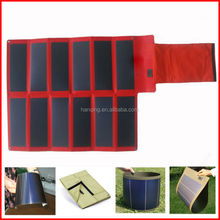 Portable flexible solar panel charge for car battery