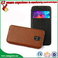 Factory Flip smart PU leather Mobile Phone stand Cover for Samsung S5 , i9600