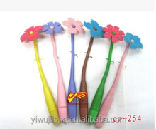 2015 good fashion Bending flower pen, gift pen personality wholesale,