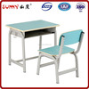 Stackabe double bright color wood child desk and chair