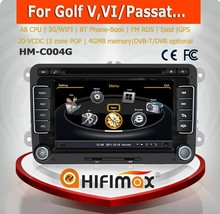 Hifimax car dvd gps navigation system for VW Passat MK7 with A8 CHIPSET DUAL CORE 1080P V-20 DISC WIFI 3G INTERNET DVR