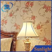 Romantic 3D wedding room wallpaper non-woven wallpaper korean wallpaper