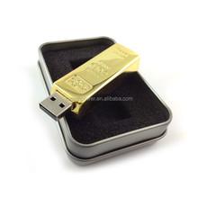 2015 cool design gold memory stick