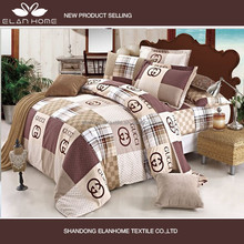 Luxury reactive printing branded print quilt cover set bedding set bed sheet set