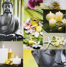 CE Certified 2015 lastest modern art buddha abstract painting with led light for holiday gift cheap china factory wholesale