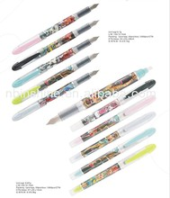 New style plastic fountain pen , double ended plastic fountain pen , full color printing fountain pen