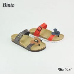 2014 wholesale latest flat sole men dress shoe Cork Slipper /mickey soft cork wood slipper