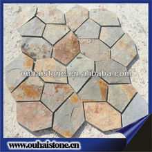 Selling goods with competitive price for clients random rusty thin flagstone slate