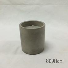concrete candle jar with scented candle soy wax