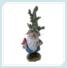 Hand painting funny resin garden gnome figurine