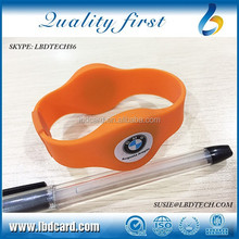 125KHz Closeloop Sillicone T5577 TK4100 Smart Bracelet/Wristband for Event Access Control
