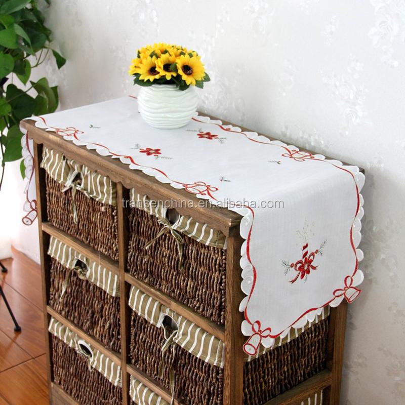 ornament yarn runner table table Bell Wallpaper Slub Christmas  runner christmas