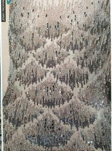 new fashion spangle loose sequins embroiery design for wedding dress