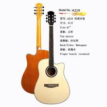 A210 use spruce top distinctive no brand acoustic guitar, wholesale acoustic guitar