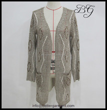 Mode bonbons Crochet Knit Tops modèles à manches longues cardigan manteau pull, Tricot cardigan BG151130