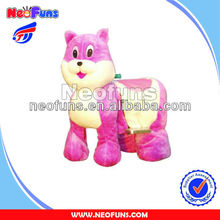 Battery cars for children arcade game machine Pink mouse amusement rides machine zippy walking animal ride
