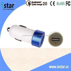 NEW Mini 9V 2A QC2.0 Car Charger w/Double-side insert USB