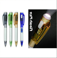 LED light promotional ball pen, focus flashlight led torch light pen