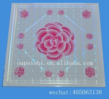 new design flower popular in Iraq 600mm/595mm pvc ceiling tile