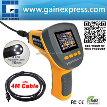 """2.4"""" Video Inspection Waterproof Camera Endoscope Snake Borescope 360 Rotation 4 Meter (1M + 3M) Cable 10mm diameter"""