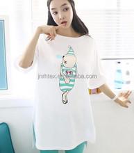 Fancy design women t-shits,100% cotton tall t-shirts wholesale,custom plain long length t-shirts for women