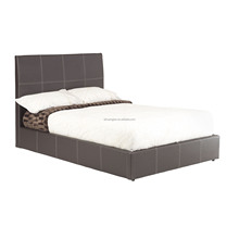 cheap Pu leather bed, simple pu leather bed, pu and pvc bed frame