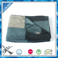 L/C at sight 100 polyester fire retardant fabric polar fleece airline blanket