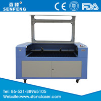 SF1410T two heads laser engraving and cutting machine for nonmetal materials