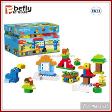 150 PCS colorful ECO plastic toy building block for kids playing