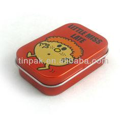 mini rectangular chewing gum tin packaging