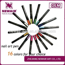 2016 new products DIY nail decoration 20 colors fast dry nail art printing two way nail art pen drawing