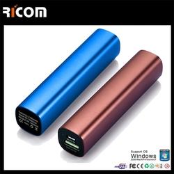 China CE ROHS Lipstick new power bank external battery charger, portable power bank for samsung--PB103D Shenzhen Ricom