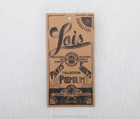 washing kraft paper swing tag for jeans