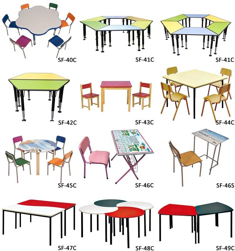Vivero mobiliario escolar ajustable colorida popular niños estudio ...