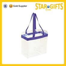Promotional custom clear pvc tote bag transparent tote bag promotional pvc tote bag