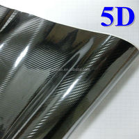 New Product high glossy 3 plys 5d carbon fiber vinyl film with air channels