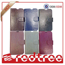TPU case silk skin leather wallet cell phone cover for brand mobiles