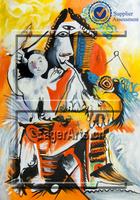 Dafen Custom Wall Art Canvas Handmade Famous Abstract Pablo Picasso Oil Painting Reproduction
