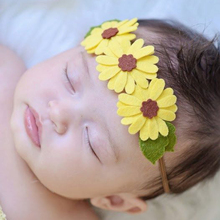 cute solid ribbon bow elastic baby headband infant bow headband fabric flower baby headbands