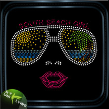 2016 Hotsale Bling Sunglasses Rhinestone Motif for T Shirt Design