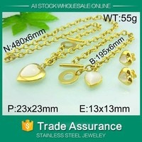 2015 wholesale jewelry with kalen stone imitation diamond jewelry set