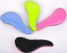colorful hair brush, fashion detangling hair brush, popular detangle brush plastic detangling hair brush